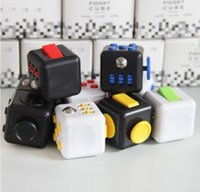 Wholesale 2017 New Fidget cube Popular Toy magic decompression anxiety hand spinner stress relief Portable anti irritability Colors Retail Box DHL