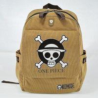 um saco de escola pedaço venda por atacado-Atacado- Novo Cartoon Crânio Designer Anime Moda infantil School bag ONE PIECE Backpack