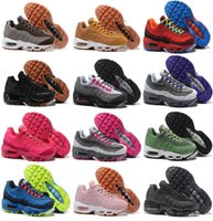 Wholesale Womens Boots Floral - Wholesale Running Shoes womens Air Cushion 95 Sneakers Boots 20 anniversary Authentic 2017 Walking Discount Sports
