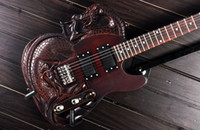 Wholesale Dragon Guitars - Wholesale-ATL Carved Dragon Slayer Style Electric Guitar With Mahogany Body Rosewood Fingerboard 22 Fret