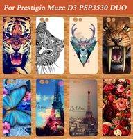 Wholesale D3 Case - Wholesale- Diy Painting Colored Case Cover For Prestigio Muze D3 PSP3530 DUO 3530 Duo Case E3 PSP3531 DUO 3531 Case Cover Pattern Phone Bag