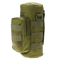 Wholesale Molle Bottle - 2017 Water Bottle Pouch Military Bottle Bag Molle Water Zipper Bottle Pouch Outdoor For Hiking Traveling