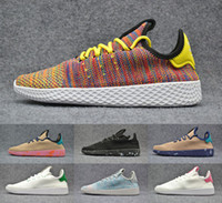 Wholesale Tennis Running Femme - New 2017 Pharrell Williams X Tennis Hu Womens & Mens Running Shoes Human Race Multicolor Femme & Homme Sneakers Size 36-44 Eur