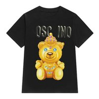 Wholesale Designer Shirts For Women - Cute Cartoon Womens T Shirts Bear Print Womens Short Sleeve Tops for Summer Breathable Designer Women T Shirts