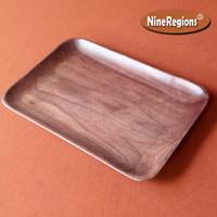 Wood black serving trays - Coffee Fruit Candy snacks Plate breakfast Dinner Bread Serving Food Dish Aloeswood jewelry Rectangle natural Black Walnut of US Wooden Tray