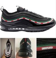 Wholesale Box Ds - Wholesale Max 97 OG X UNDFTD Running Shoes BLACK SPEED RED DS Ultra Silver Bullet Summer Scales Triple Black with box free shipping