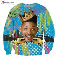 Wholesale Fresh Hoodies - Wholesale- Sportlover Fashion Will Smith Sweatshirt Mens Hip Hop Sweats Fresh Prince of Bel Air Jumper Tops For Unisex Women Men Hoodies
