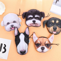 Wholesale Wholesale Animal Purses For Children - New Animal Coin Purses Holders 3D Dog Purse For Coins Women Coin Bag Children Zipper Pouch Cute Small Wallet Holder Girls Purse