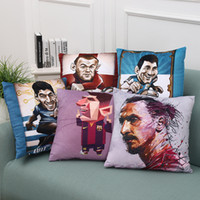 Wholesale football pillows for sale - Group buy 45 cm Real Madrid Messi Football Pillow Case Personality Football Team Square Cushion Sofa Car Livingroom Bedroom Pillow Covers WX P18