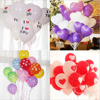 100PCS 30cm 12 pollici Big Pearl Latex Balloon 4 stile Party Heart-shaped festa di nozze I LOVE YOU parole Proposta