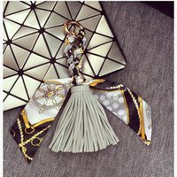 Wholesale Spring And Summer Scarves Fringed Fashion Pendant Cortex Creative Personality Keychain Key Ring Pendant Bag Accessories