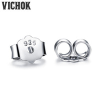 Wholesale wholesale plugs jewelry - Wholesale Earplugs 925 Sterling Silver Earrings Plug Back Fashion Fine Jewelry Prevent Allergies Earrings Accessories VICHOK
