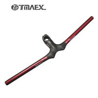Wholesale Integrated Mtb Carbon - TMAEX- Carbon Handlebar+Stem Mtb Cycling Handlebars Carbon Bar Flat Integrated Handle bar Bicycle accessoires Red 3K Matte