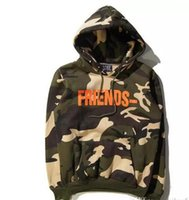 Wholesale Mens Xl Hoody - Mens V lone Friends Letter V Print Camouflage Sweatshirts Army Green Military Camo Hoodie Hip hop Fashion Tracksuit Hoody S-XL