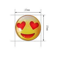 imanes de nevera de moda al por mayor-Imán del refrigerador de Emoji PVC 25MM Decoración del hogar Multifunción Imán de refrigerador Pegatinas magnéticas Moda de dibujos animados 0 7ss J R