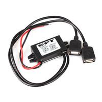Wholesale Usb Buck Converter - Wholesale- JunHom 12V to 5V USB DC-DC Buck Converter Car Power Supply Regulator