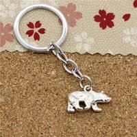 Wholesale California Fashion Men - 15pcs Fashion Diameter 30mm Metal Key Ring Key Chain Jewelry Antique Silver Plated bear california state flag 24*15mm Pendant