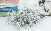 künstliche miniblumen blau großhandel-Mode heißen Gypsophila Baby Atem Künstliche Gefälschte Seidenblumen Pflanze Home Hochzeit Dekoration