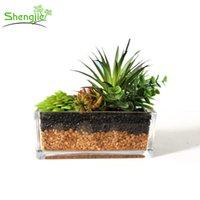 Wholesale Decorative Flowers Prices - Wholesale price indoor office decorative plastic artificial mini potted succulents