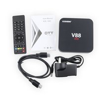 Wholesale top android boxes - V88 Android TV Box RK3229 4K 1G 8G Quad Core WiFi HDMI Set-top Smart Boxes Full Loaded Support 3D Free Movies DHL