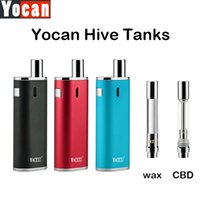 Wholesale Design Atomizer - Authentic Yocan Hive Atomizers Wax Vaporizer & CBD Oil Cartridges No Leakage Design 5pcs pack Plastic Tube Packed