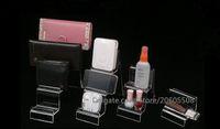 mücevher vitrini standı toptan satış-Sıcak satış Çok Fonksiyonlu akrilik dijital ürünler cep telefonu mücevher Kozmetik ekran standı tutucu cüzdan çanta vitrin 2 adet