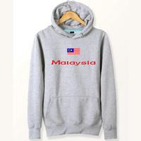 Wholesale Universal Shirts - Malaysia flag hoodies Country universal tide sweat shirts Fleece clothing Pullover coat Outdoor sport jacket Brushed sweatshirts