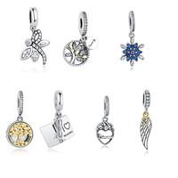 Wholesale Necklace Bracelet Tree - BELAWANG Original 925 Silver Mother Heart Beads Fits Pandora Charms Necklace&Bracelets Jewelry Making Tree of Life Heart Shape Pendant