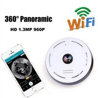 Hot Sale 1.3MP 1280 * 960 WiFi 360 Degrees Câmera de Vídeo VR panorâmico Fisheye IP Camera Night Vision Professional Camera High Quality Gift