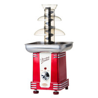 Wholesale 220V w Red DIY Chocolate fountain machine Three layers of chocolate melting pot Stainless steel food material x17x31cm