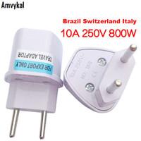 Wholesale Wholesale Electrical Sockets - Universal UK US AU To EU Plug Adapter Travel Brazil Argentina Switzerland AC Power Electrical Plug Socket Converter