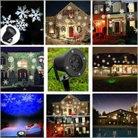 US EU plug LED Waterproof Moving Snow Laser Projector Lâmpadas Snowflake LED Stage Light para o Natal Ano Novo Party Light Garden Lamp