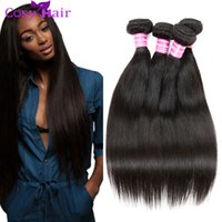 Wholesale Cheap Hair Weave Free Shipping - Brazilian Straight Virgin Human Hair Weave Bundles Brazilian Mink Weft Brazilian Cheap Remy Human Hair Extensions 8A Grade Free Shipping