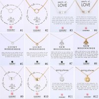 Wholesale Compass Necklaces For Women - Luxury Brand Dogeared pendants Necklaces Circle Pearls Horseshoe compass lotus flower charms Gold&Silver necklace For women Fashion Jewelry