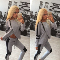 Wholesale Exercise Clothing For Women - Hot Selling Women Jogging Suit Long Sleeve Cotton Hooded Clothing for Running, Jogging, Yoga Exercise wear Solid Jogging tops and pants suit