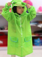 Wholesale Princess Kids Raincoats - Arrive Raincoat jacket Princess Free Shipping Kids Rain Coat children Raincoat Rainwear Rainsuit,Kids Waterproof Animal Raincoat WD225AA
