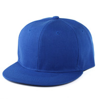 Wholesale Classic Snapback Hat Blank Cap Plain Adjustable Hip Hop Baseball Cap Colorful Hats For Man And Woman