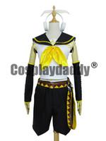 rin kagamine cosplay costume venda por atacado-Vocaloid 2 Rin Kagamine Cosplay