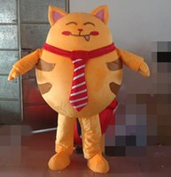 Wholesale Lucky Cats For Sale - SX0723 100% real photos of lucky Fortune Cat mascot Maneki Nek costume for adult to wear for sale