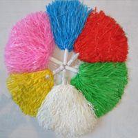 latas de baile al por mayor-Pom Poms Cheerleading Cheerleader Supplies Square Dance Props Color Puede elegir Flower Dance Cheerleading Team handbal