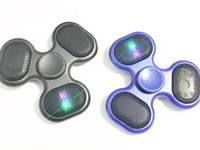 Wholesale Sd Switches - MP3 Music Player Fidget Spinner LED Hand Spinner With Power Switch Micro SD TF Card Contral Fodgets Toy Portable Speaker Free DHL
