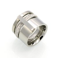 Wholesale Gold Encrusted - Hot style is a hot sale of a three-ring, diamond-encrusted, diamond-studded titanium ring ring for men and women