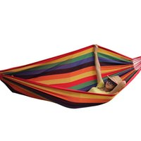 Wholesale Canvas Hammocks Camping - Hammocks Tree Swing Camping Portable Canvas Bed Travel Survival Sleeping Bed For Adults And Kids Home Dorm Outdoor Drop Shipping