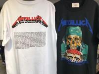 Wholesale Metallica Top - 2017 summer hip hop skull printed cotton tees Justin bieber fear of god Metallica Short Sleeve T-shirt kpop top tee kanye west