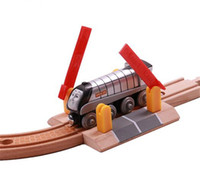 Wholesale Wholesale Wooden Train Tracks - Wholesale- New coming wooden baby vehicle toys Tomas and Friends railway train Traffick Track set Wooden rail accessories crossroads