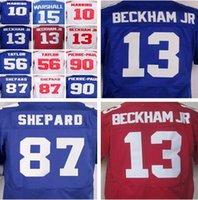 Wholesale Elite 13 - Men 13 Odell Beckham Jr jerseys 10 Eli Manning 15 Brandon Marshall 56 Lawrence Taylor 87 Sterling Shepard elite jersey size M-XXXL