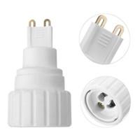 led lamba vidası tabanı toptan satış-Lamba Bazları G9 GU10 Baz Vida LED Ampul Lamba Adaptörü Tutucu Soket Dönüştürücü 220 V 5A PBT Malzeme