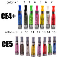 Wholesale Ego Q Series - Ego Atomizer CE4+ CE5 Atomizer invisiable Wick CE4+ CE5 Clearomizer E Cigarette Atomizer for eGo-T eGo-Q battery Ego series