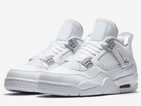 Wholesale New Retro Pure Money Basketball Shoes Men s Pure Money White And Silver Athletics Sneakers