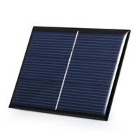 kits de iluminación solar al por mayor-Alta calidad 0.65 W 1.5 V célula solar policristalino DIY sistema del cargador del panel solar para la luz llevada + Cable / Wire Education Kits Epoxy